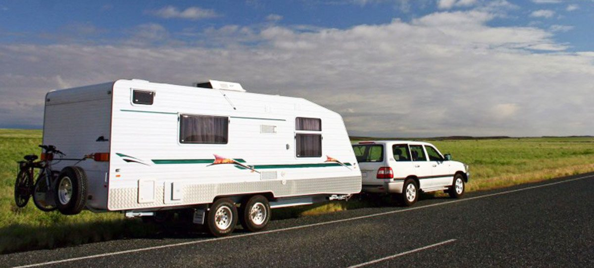 Caravan being towed