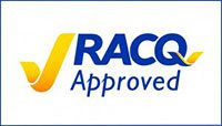 RACQ Approved Repairer Logo AllBrand Caravan Services