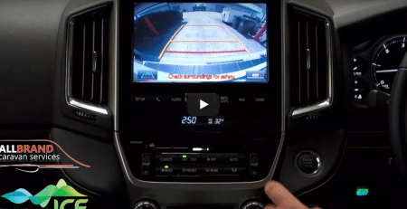 Caravan/Trailer Camera System Utilises the Vehicles Screen in Reverse