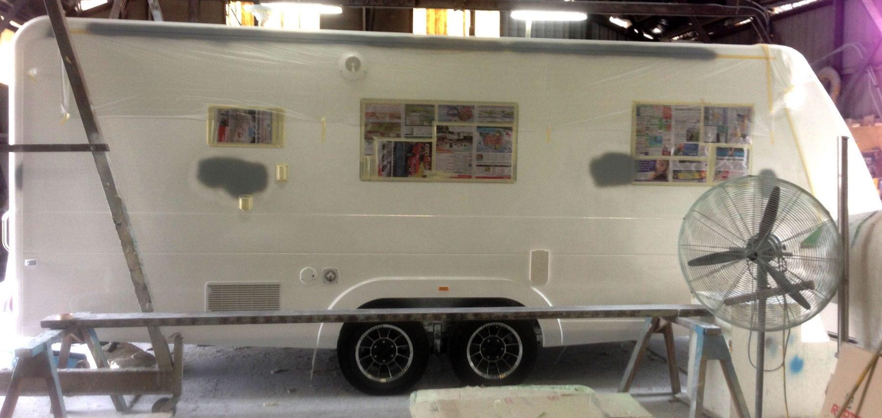Caravan Fiberglass Repairs - AllBrand Caravan Services