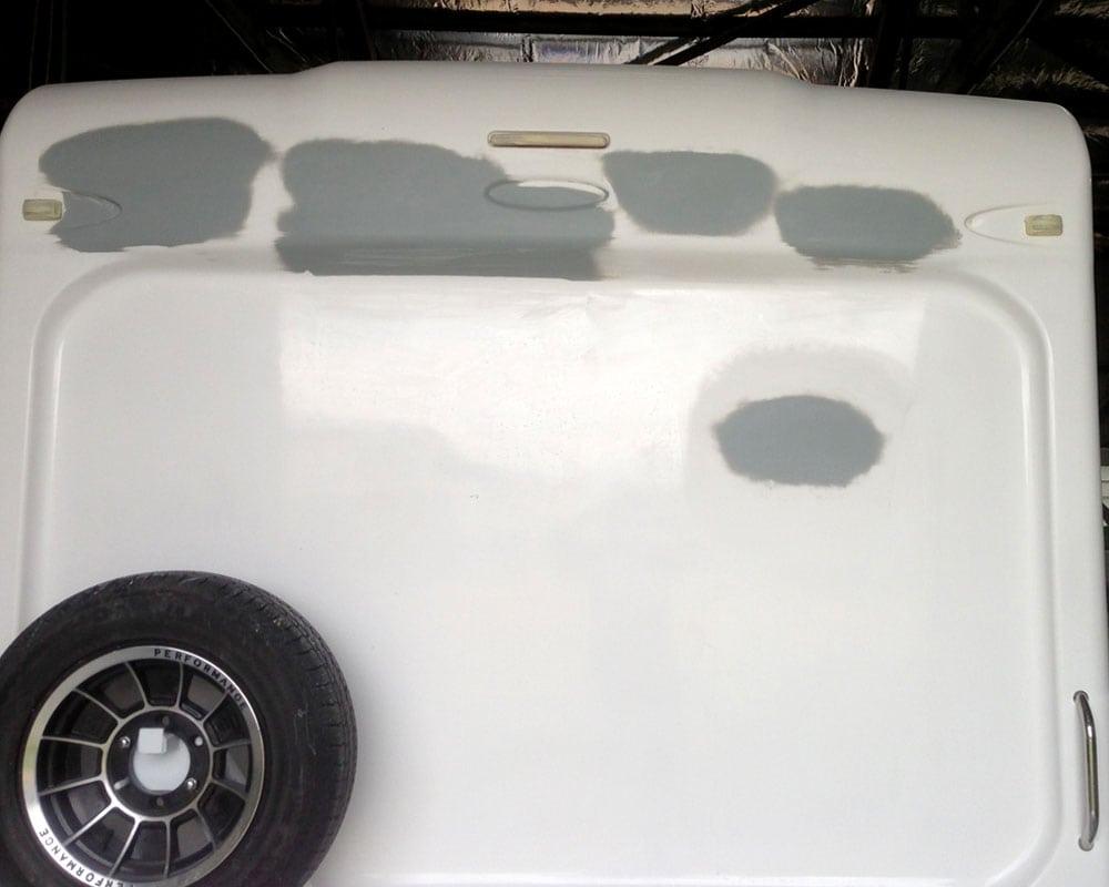 Caravan Damage - Fiberglass Repairs - AllBrand Caravans