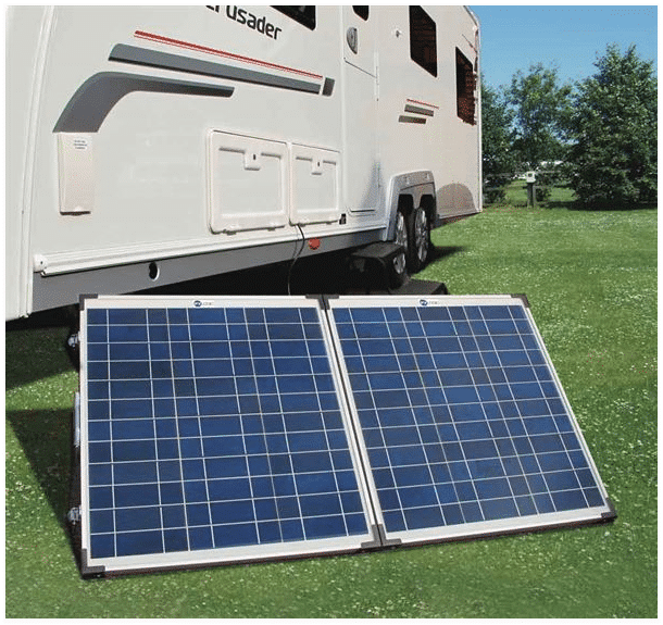 Caravanning with solar panels